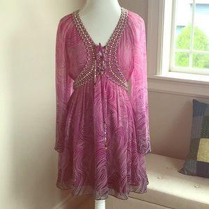 Beautiful DVF Boho Silk Dress